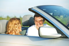 Love in cabrio Stock Photo