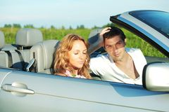 Love in cabrio Stock Photography