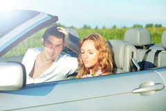 Love in cabrio Royalty Free Stock Photo