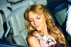 Love in cabrio Royalty Free Stock Photos