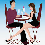 Love in cafe Stock Photography