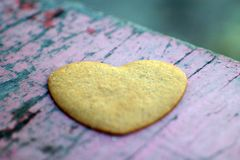Love. Cake heart - symbol of love Royalty Free Stock Photography