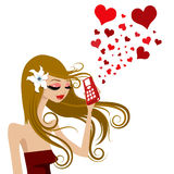 Love call. Abstrac love call illustration vector Royalty Free Stock Photography