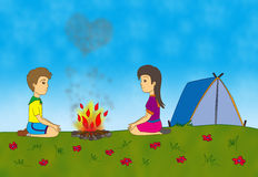 Love on a camp Royalty Free Stock Images
