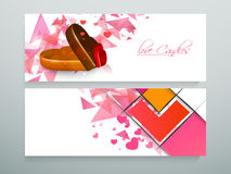 Love candies website header or banner set. Royalty Free Stock Photography