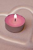 Love candle Royalty Free Stock Image