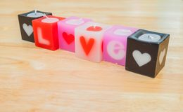Love candle Royalty Free Stock Photo
