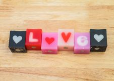 Love candle Stock Photo