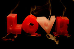 Love candles Royalty Free Stock Images