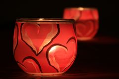 The Love Candles Stock Images