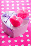 Love candles and gift box Royalty Free Stock Photography