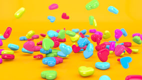 Love Candy Falling 3D Stock Photo