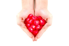 Love Candy in feminine Hand Royalty Free Stock Image