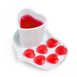 Love candy and soft drink. Stock Photos