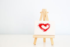 Love canvas Royalty Free Stock Photography