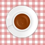 Love Cappuccino vector Stock Photography