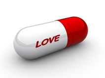 Love capsule Royalty Free Stock Images