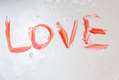 Love, Caption word love Red Stock Images