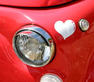 Love car. A heart in the love car Royalty Free Stock Photo