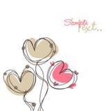 Love card. Vector Illustration of scribbled heart design Stock Images