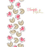 Love card. Vector Illustration of scribbled heart design Royalty Free Stock Photo