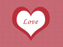 Love card. With one heart Stock Photography