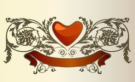 Love card. Vector for valentines day or love-letter Stock Photos