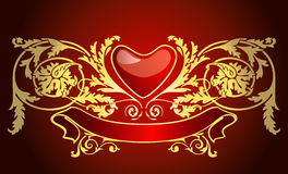 Love card. Vector for valentines day or love-letter Royalty Free Stock Images