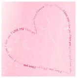 Love card. I love you vector card Royalty Free Stock Photos