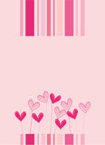 Love card. Vector illustration of love card for special occasions Stock Images