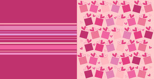 Love card. Vector illustration of valentines card with hearts Stock Photo