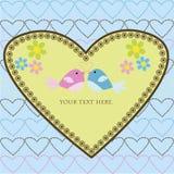 Love card with birds vector illustration
