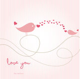 Love card with birds Stock Photos