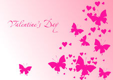 Love card with butterflies Stock Photo