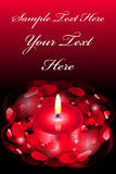 Love card with candle. Vector love card with candle Royalty Free Stock Image