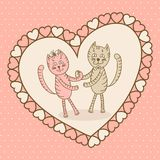 Love card with cat Stock Photo