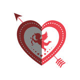 Love card with cupid angel Stock Images