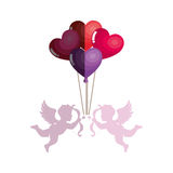 Love card with cupid angel Stock Photo