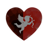 Love card with cupid angel Stock Image