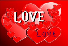 Love card design Stock Image