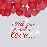 Love card design with red details. Stock Image