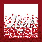 Love card design Royalty Free Stock Photography