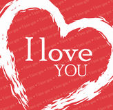 Love card design, vector illustration eps 10. Royalty Free Stock Image