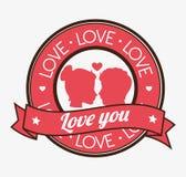 Love card design, vector illustration eps 10. Royalty Free Stock Photo
