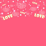 Love card designs of valentine day Royalty Free Stock Photography
