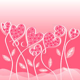 Love card designs of valentine day Royalty Free Stock Image