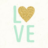 Love card with hand drawn lettering. Royalty Free Stock Photos