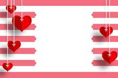 Love card with heart& x27;s in red and white background for loved ones royalty free illustration