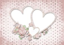 Love card with hearts Royalty Free Stock Images