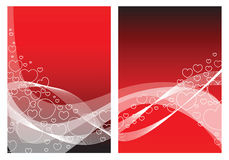 Love card with hearts Royalty Free Stock Photo